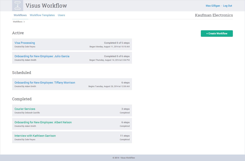 Visus Workflow - Landing